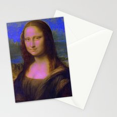 Mona Lisa's Haze (blue) Stationery Cards