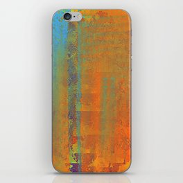 Abstract in Gold, Copper and Aqua iPhone Skin