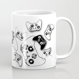 Video Game Black on White Coffee Mug