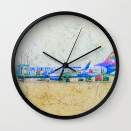 SunExpress Boeing 737-800. The smurfs..... the lost village Wall Clock