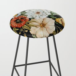 Wildflower Bouquet on Charcoal Bar Stool
