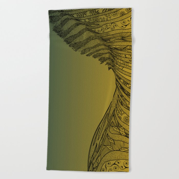 Zebra Design Beach Towel