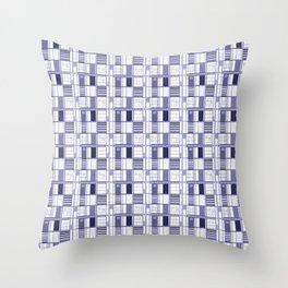 Purple- Lavender -cuadricula Throw Pillow