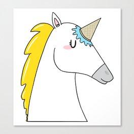 Undercover unicorn Canvas Print