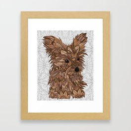 Cute Yorkie Framed Art Print