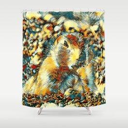 AnimalArt_Prairiedog_20170902_by_JAMColors Shower Curtain
