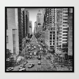 Columbus Circle Aerial View Canvas Print