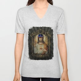 Hot Rod Jesus Unisex V-Neck