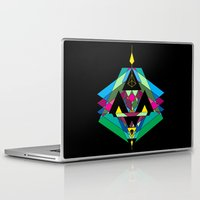 gnome Laptop & iPad Skins featuring GNOME [ black ] by 23rd Dimension