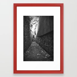 Narrow Way Framed Art Print