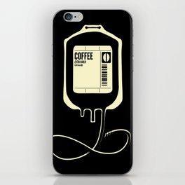 Coffee Transfusion - Black iPhone Skin