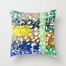 Unconventional lace Throw Pillow