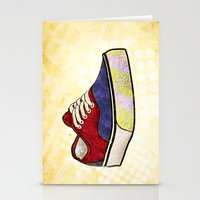 vans Stationery Cards featuring Man I Need Vans - Classic Sneaker Icon by Dave Conrey