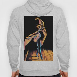 3306s-EH Dancing Woman Rendered in Pastel Female Figure by Chris Maher Hoody