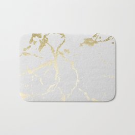 Kintsugi Ceramic Gold on Lunar Gray Bath Mat