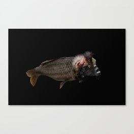 The Swamp Fish Witch Canvas Print