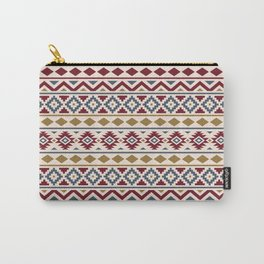 Aztec Essence Ptn III Red Blue Gold Cream Carry-All Pouch