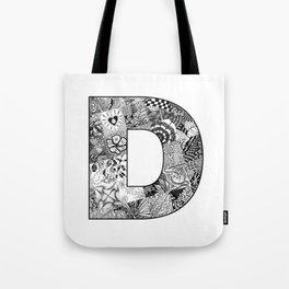 Cutout Letter D Tote Bag
