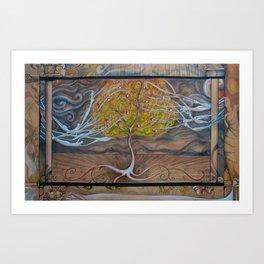 Worlds combined Art Print