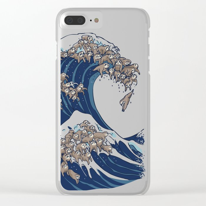 a7a482716 The Great Wave of Sloth Clear iPhone Case by huebucket   Society6