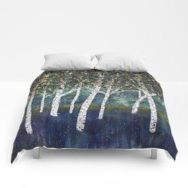 Evening Aspens Comforters