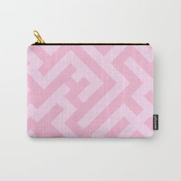 Pink Lace Pink and Cotton Candy Pink Diagonal Labyrinth Carry-All Pouch
