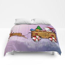 Dashing through the sugar snow Comforters