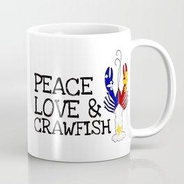 Peace, Love & Crawfish Coffee Mug