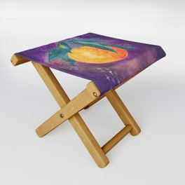 Cosmic orange Folding Stool