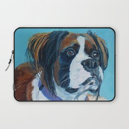 Nori the Therapy Boxer Dog Portrait Laptop Sleeve
