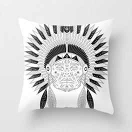 Snapped Up Market - Cowboys & Indians Throw Pillow