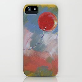 Goodbye Red Balloon iPhone Case