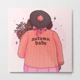 Autumn Babe Metal Print