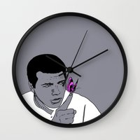ali Wall Clocks featuring Ali by Cyrille Savelieff