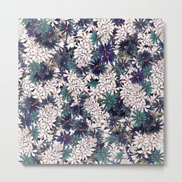 Floral Ditsy Pattern Metal Print