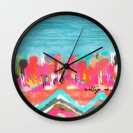 Cosmic Missoni Bomb Wall Clock