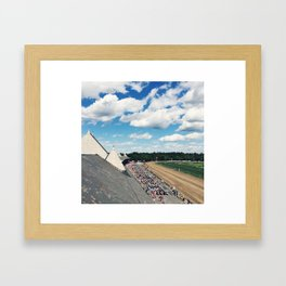 Rooftop View at Saratoga Race Course Framed Art Print