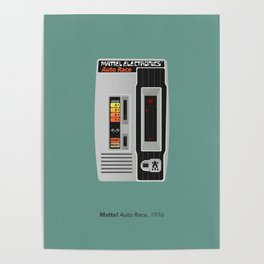 Mattel Auto Race, 1976 Poster