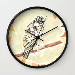 Canary in a Cathouse Wall Clock