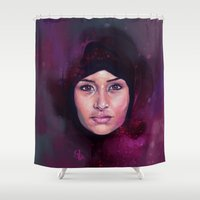 wonder Shower Curtains featuring Wonder by Georgina Elizabeth