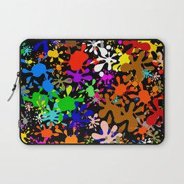 Colourful Fun Paint Blots and Stains Laptop Sleeve