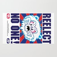politics Area & Throw Rugs featuring Polar Bear Politics by Clore Concepts Chucks Stuff