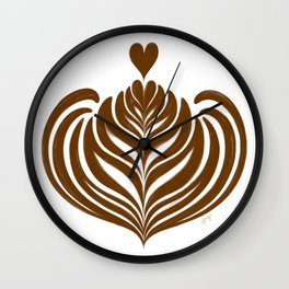 Latte Rosetta Wall Clock