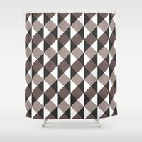 gray pattern Shower Curtains featuring Pattern Gray by Sonia Marazia