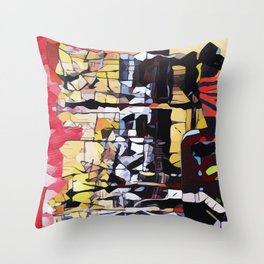 Abstract 50 #9 Throw Pillow