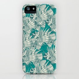 fish mirage teal iPhone Case