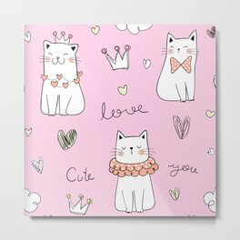 LOVELY CATS  Metal Print