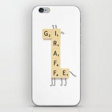 Giraffe Scrabble iPhone & iPod Skin