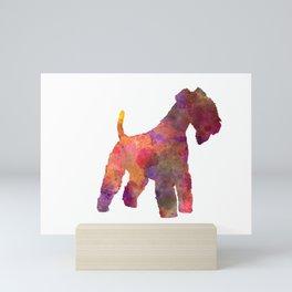 Lakeland Terrier in watercolor Mini Art Print