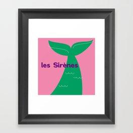 Les Sirènes Framed Art Print
